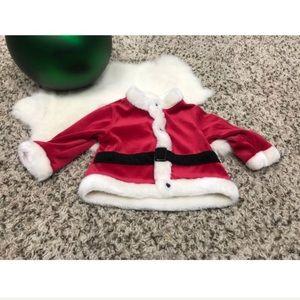 Baby Christmas Jacket Santa Claus Sz 3-6M